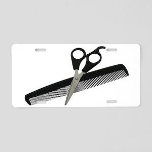 ScissorsComb052010 Aluminum License Plate