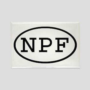 NPF Oval Rectangle Magnet