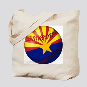 Baseball Arizona Flag Tote Bag