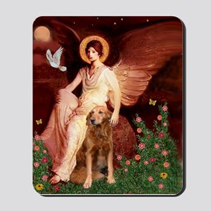 Seated ANgel & GOlden Mousepad