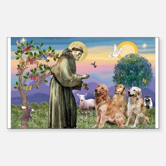 St Francis / Golden Retriever (3) Decal