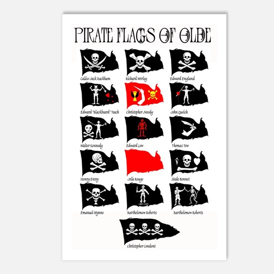 Pirate Flags- Jolly Roger Postcards (Package of 8)
