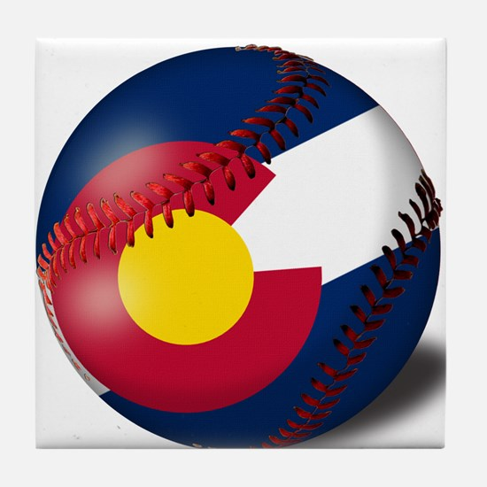 Baseball Colorado Flag Tile Coaster