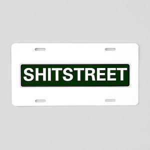 STREET SIGNS - SHITSTREET - Aluminum License Plate
