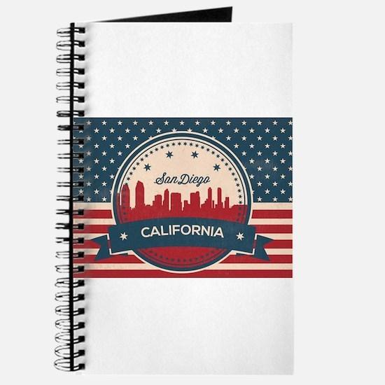 Retro San Diego Skyline Journal