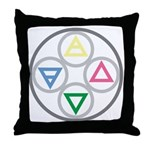 Alchemical Cycle Earth Water Air Fire Throw Pillow