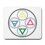 Elemental Mandala Earth, Water, Air, Fire Mousepad
