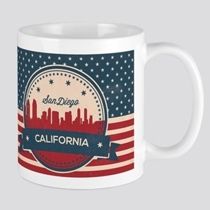 Retro San Diego Skyline Mugs