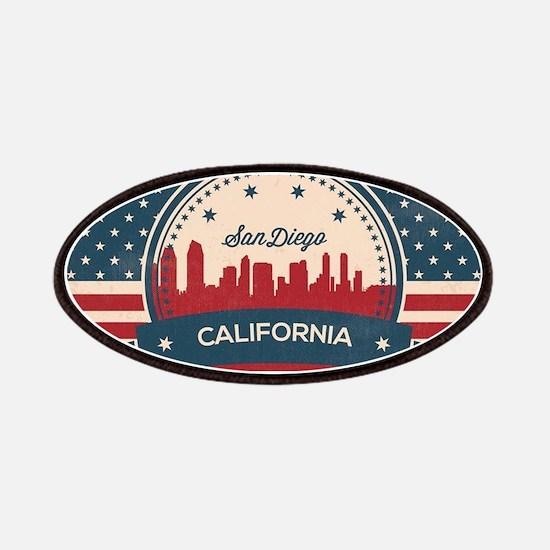 Retro San Diego Skyline Patch