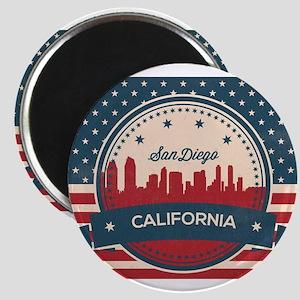 Retro San Diego Skyline Magnets
