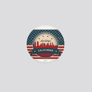 Retro San Diego Skyline Mini Button