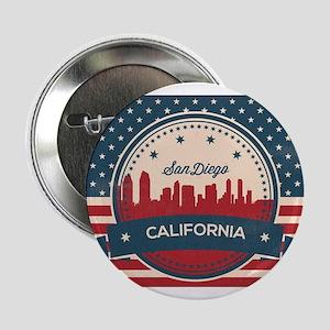 "Retro San Diego Skyline 2.25"" Button"