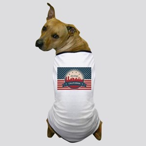 Retro San Diego Skyline Dog T-Shirt