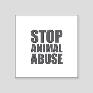 Stop Animal Abuse Sticker