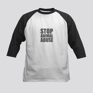 Stop Animal Abuse Baseball Jersey