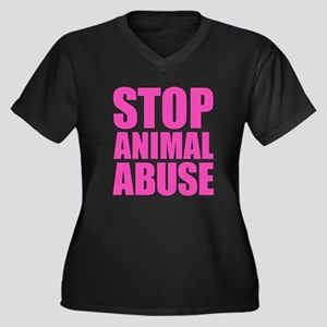 Stop Animal Abuse Plus Size T-Shirt
