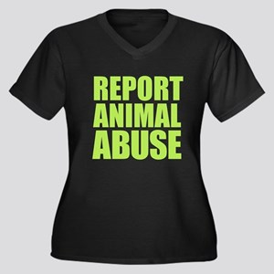 Report Animal Abuse Plus Size T-Shirt