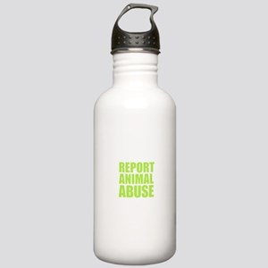 Report Animal Abuse Stainless Water Bottle 1.0L
