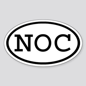 NOC Oval Oval Sticker