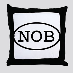 NOB Oval Throw Pillow