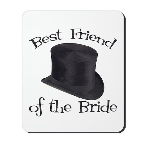 Top Hat Bride's Best Friend Mousepad