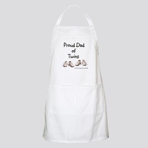 Proud Dad of Twins Baby Shoes BBQ Apron