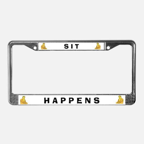 Sit Happens #4 License Plate Frame
