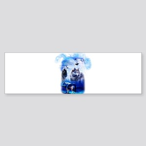Wolf Moon Bumper Sticker