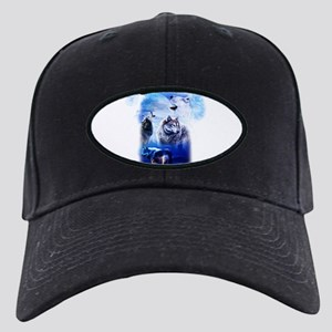 Wolf Moon Black Cap with Patch