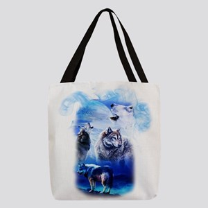Wolf Moon Polyester Tote Bag