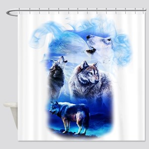 Wolf Moon Shower Curtain