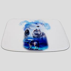 Wolf Moon Bathmat