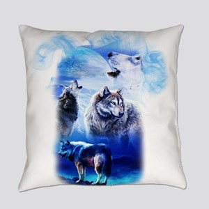 Wolf Moon Everyday Pillow