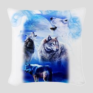 Wolf Moon Woven Throw Pillow