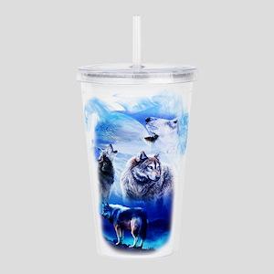Wolf Moon Acrylic Double-wall Tumbler