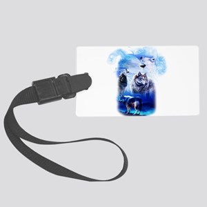 Wolf Moon Large Luggage Tag