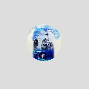 Wolf Moon Mini Button