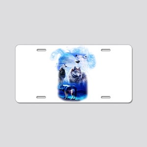 Wolf Moon Aluminum License Plate