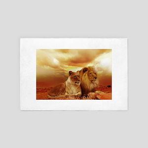 Lion 4' x 6' Rug