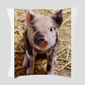 Pig Woven Throw Pillow