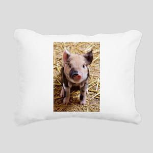 Pig Rectangular Canvas Pillow