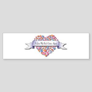 Love My Real Estate Agent Bumper Sticker