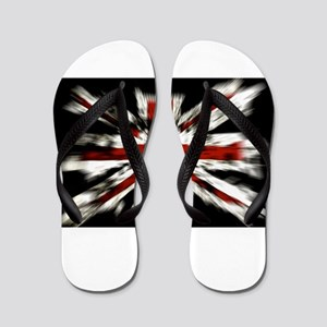 UK Flag England Flip Flops