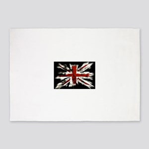 UK Flag England 5'x7'Area Rug