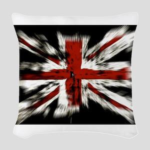 UK Flag England Woven Throw Pillow