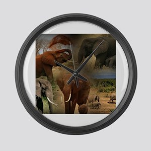 Elephant Large Wall Clock