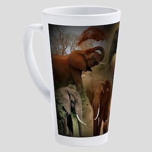 Elephant 17 oz Latte Mug
