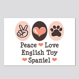 Peace Love Toy Spaniel Postcards (Package of 8)