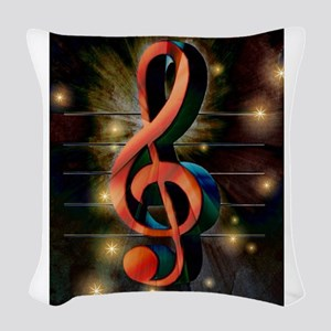 Clef Woven Throw Pillow
