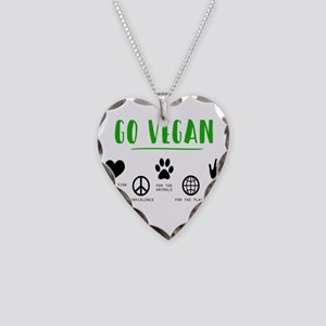 Vegan Food Healthy Necklace Heart Charm